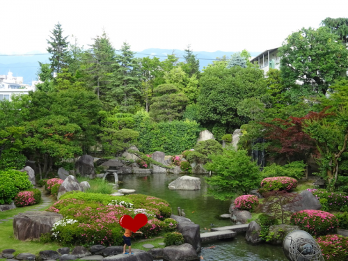 大江戸温泉物語,石和温泉ホテル新光,中庭,
